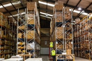 pick and pack shelving warehouse